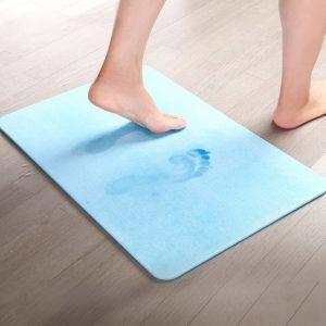 Absorberende Anti-slip Badmat Blauw