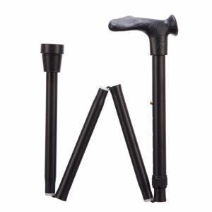 1708040 - Opvouwbare wandelstok comfortgrip zwart links