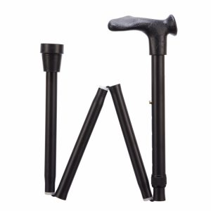 1708035 - Opvouwbare wandelstok comfortgrip zwart rechts