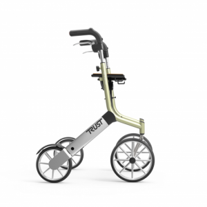 1712004 - TrustCare Let's Go Out Rollator Beige Zilver