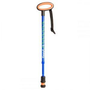 1708073 - Verstelbare Wandelstok Blauw Ovaal Handvat