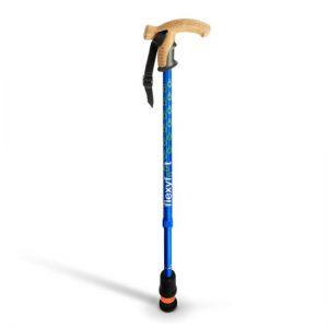 1708080 - Wandelstok Verstelbaar Blauw Kurken Handvat